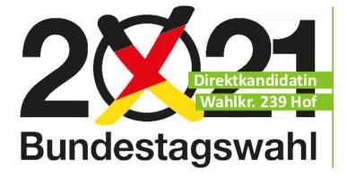 Aufstellungsversammlung für eine Direktkandidatin zur Bundestagswahl 2021 in Hof