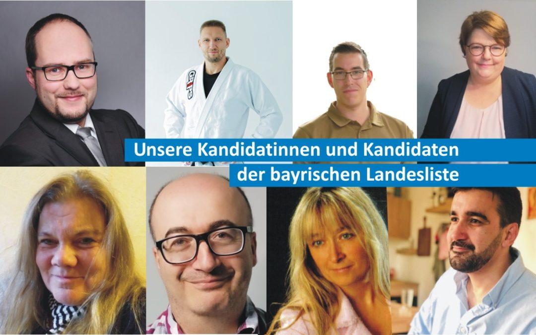 Vorgestellt: Unsere Kandidatinnen und Kandidaten der bayrischen Landesliste